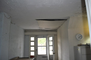 Arthurs duct tape and plaster board repair of hole in roof - Copy (2)