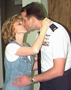 Elaine and Arthur in 1999 when he was comissioned an officer