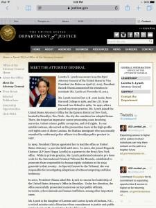 US Att General Loretta Lynch